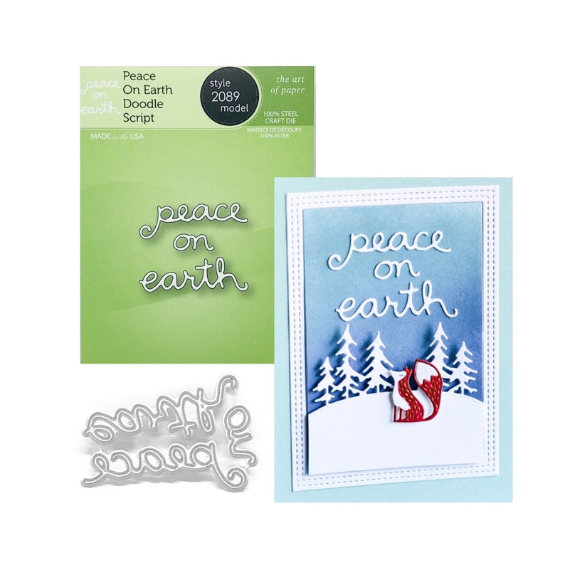 fb3c8016b9d9 Christmas Words Peace On Earth Metal Craft Die Cut Poppystamps Cutting Dies  for Cuttlebug,Sizzix,Universal machines,Card making,Scrapbooking