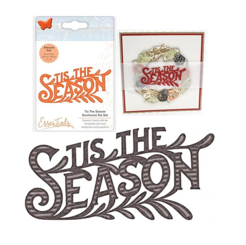 10573fda7863 Christmas Tis the Season Word Craft Die Cut Tonic Studios Metal Cutting  Dies Cuttlebug,Sizzix,Universal Machines- Card Making,Scrapbooking