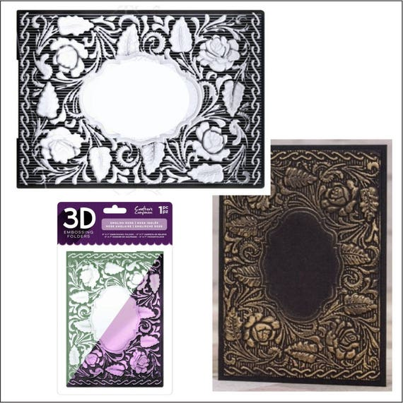 "Crafter/'s Companion 3D Embossing Folder 5/""X7/""-Entwined Rose"