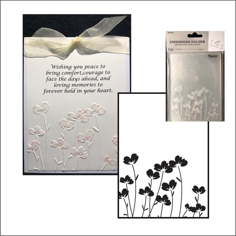 a631ec4e8cb Embossing folder Flowers by Darice Poppy emboss stencil | Etsy