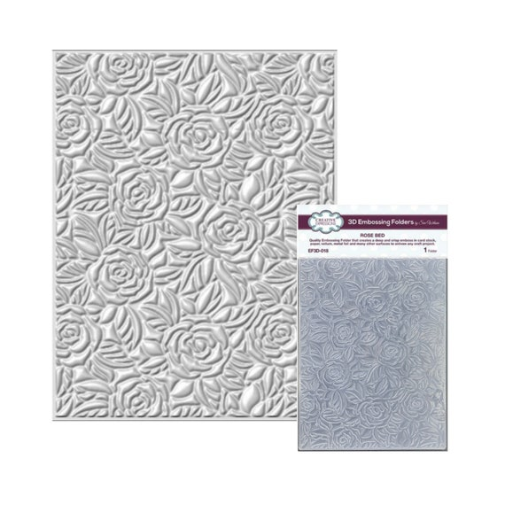 "CREATIVE EXPRESSIONS 5.75 x 7.5/"" 3D Embossing Folder RIBBON SWIRLS EF3D-012"