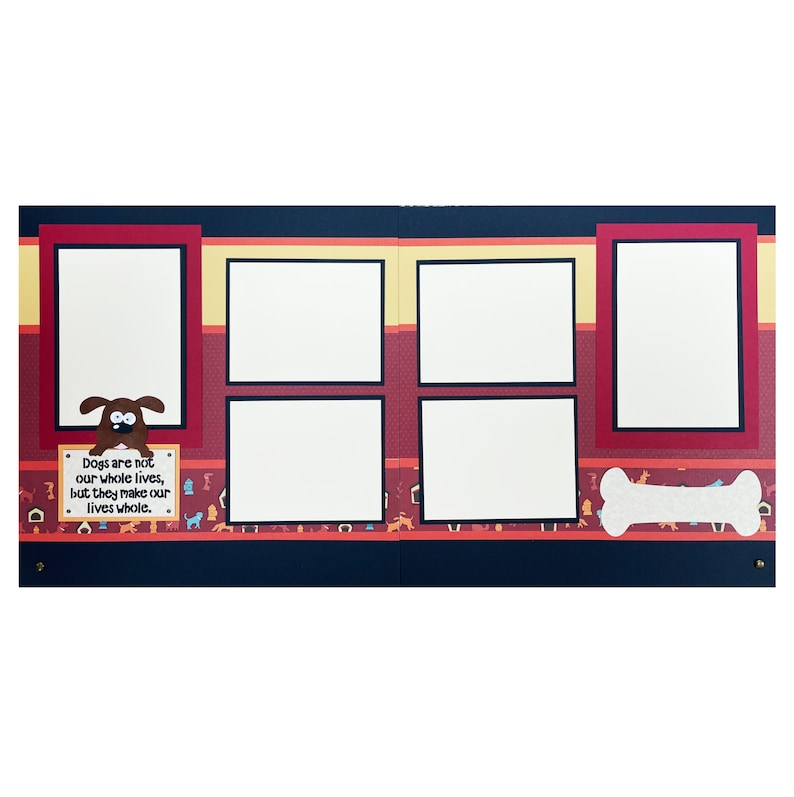 Dog Page Kit Make our lives whole Double Pages 12x12 Includes Everything to create /& Directions,Scrapbooking DIY Layout Animals,Puppy,Pet