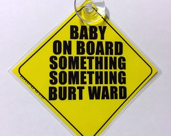 Baby on Board Car Window Sign NEW  DIY BLUE  Personalise with your Own Words