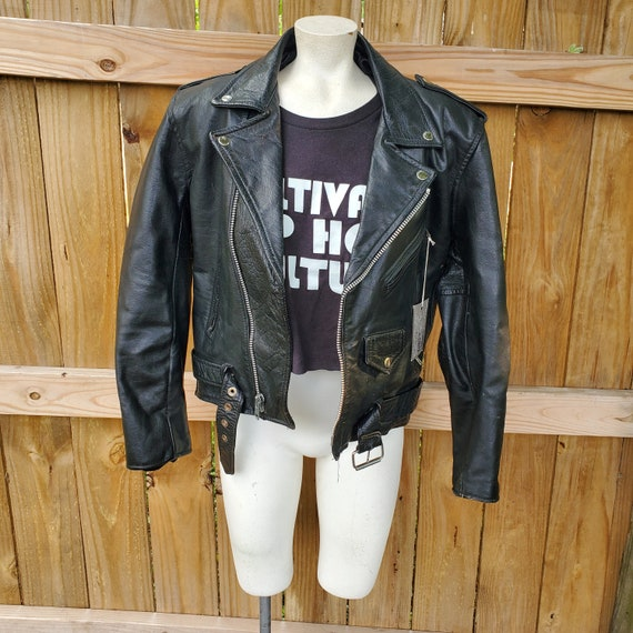 1980's leather motorcycle jacket