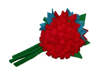 10% off with the code BDAY10 1940's Inspired Handmade Wool Felt Flower Corsage
