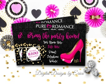e48728556686 Pure Romance Business Card Design