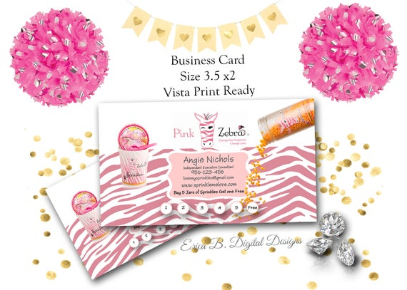 Pink zebra business card design pink zebra direct sales etsy image 0 colourmoves