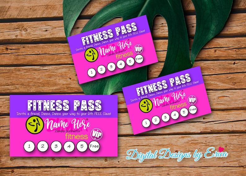 Pass Fitness Carte De Visite Design