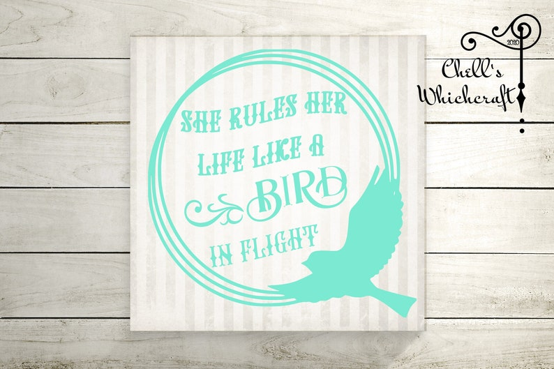Gypsy She rules her life like a bird in flight Decal | Etsy
