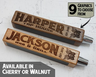 Custom Beer Tap Handle-Laser Engraved with Chalkboard - Tap House Edition - Personalized Keg Tap