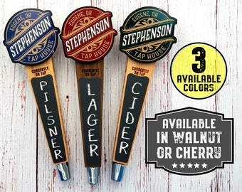 Custom Beer Tap Handle-Banner Edition - Personalized Kegerator Tap, Custom Beer Gift