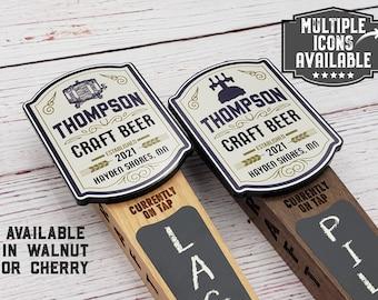 Custom Beer Tap Handle-Craft Beer Edition - Personalized Kegerator Tap, Custom Beer Gift