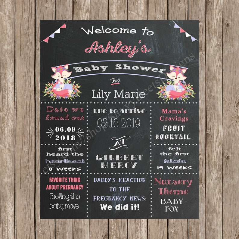 image about Newks Printable Menu named Mama Fox Youngster Shower Indication Printable - Mommy-in direction of-be Chalkboard Poster - Fox Kid Shower Topic - Mommy Fox and Youngster Fox Kid Shower Topic - Fox