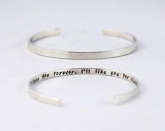 Hot Women Letter My Story Isnt Over Yet Carve Bangles Bracelet Gift Charm Bracelets