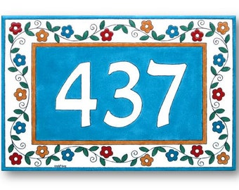 Custom numbers sign, Personalized sign, Outdoor numbers sign, Custom address sign