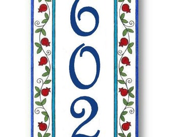 Vertical house number plaque, House Number sign, Address plaque, House numbers, Address signs