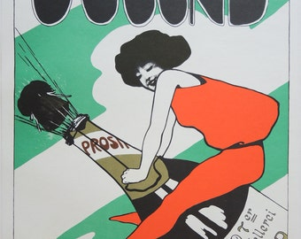 Fritz Dannenberg - Art Nouveau Poster for Jugend -- Vintage Serigraph Print