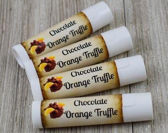 Chocolate Orange Truffle Lip Balm - Handmade All Natural Lip Balm