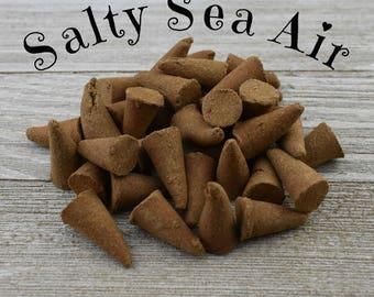 Salty Sea Air Incense Cones - Hand Dipped Incense Cones