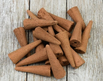 Handcrafted Scented Backflow Incense Cones - Assorted Fragrances