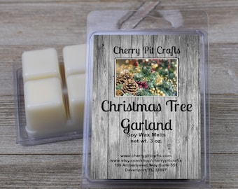 Christmas Tree Garland Soy Wax Melts - Handmade Soy Wax Melts