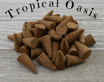 Tropical Oasis Incense Cones - Hand Dipped Incense Cones
