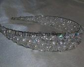 Bridal Headdress - Fabulous Crystal and Freshwater  Pearl Headband Tiara