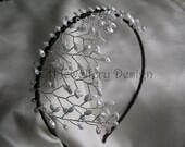 Bridal Headdress - Handmade Stunning Side Detail Headband Tiara