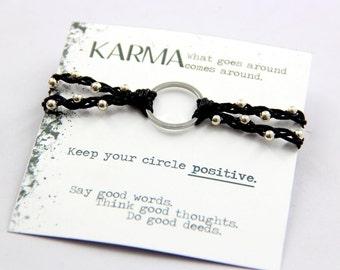 Karma Bracelet, Karma Ring, Karma Woven Bracelet, Karma Braided Bracelet, Yoga Bracelet, Karma Bohemian Bracelet, Karma Beaded Bracelet