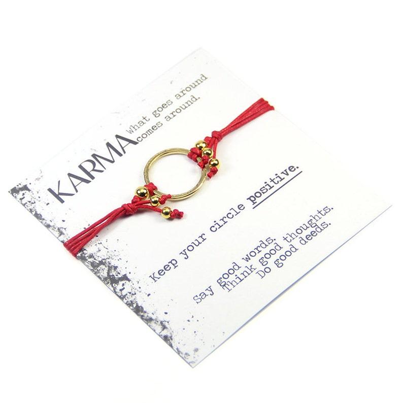 a30e9f080a15 Mejor vendedor Karma Karma pulsera-rojo y oro pulsera Karma