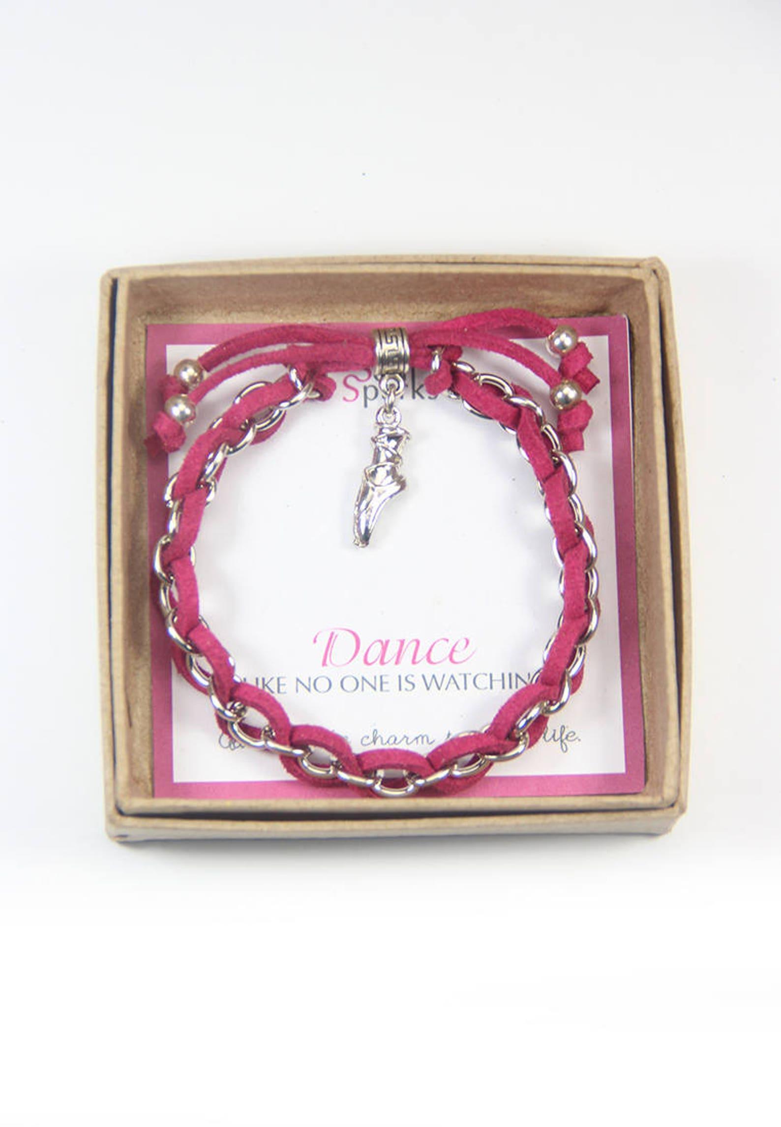 ballet shoes charm bracelet, ballet bracelet, dance jewelry, dancer bracelet, ballerina bracelet, gift for ballerina, dance reci