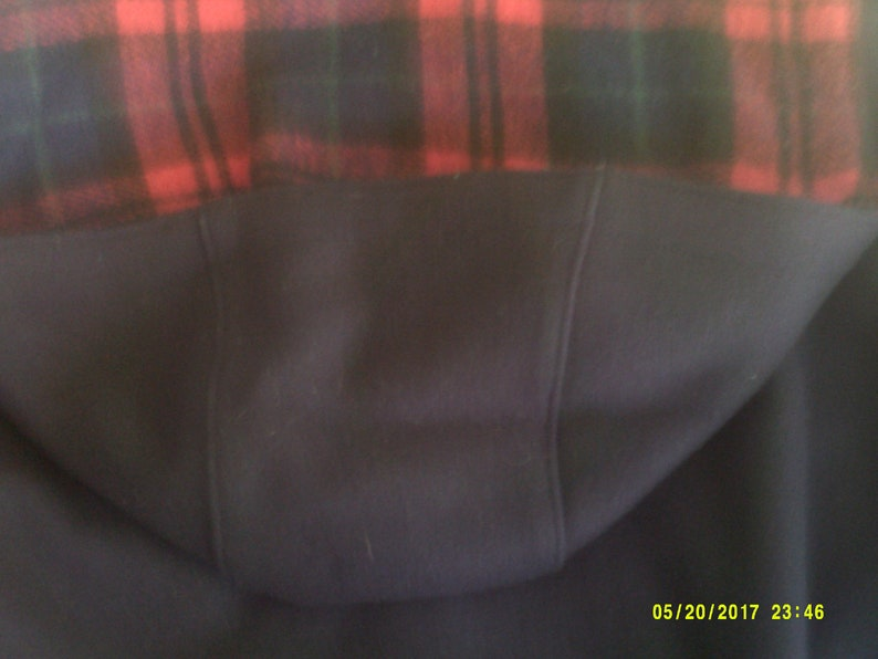 Navy Wool Jacket 14 Made in USA by Nor/' Wester size 1516 12 to 16 Womans Vintage Wool Car Coat with Detachable Hood