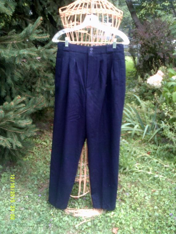 99251a355b Woman s Vintage Black Wool Slacks Pants size 12 by