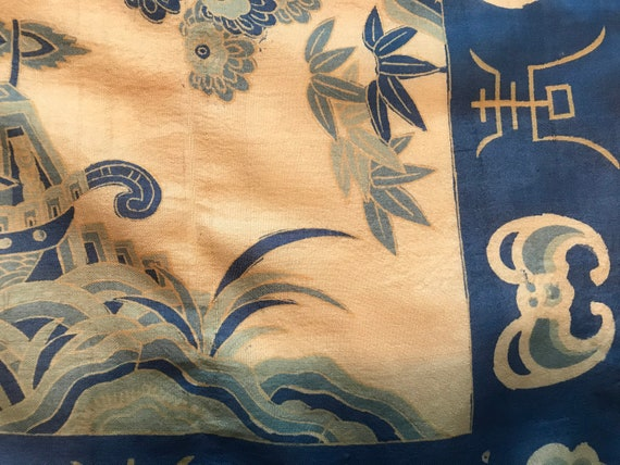 40's/50's Blue Silk Scarf - image 6