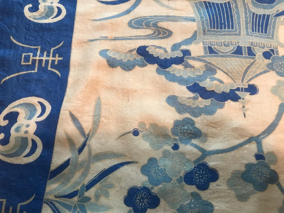 40's/50's Blue Silk Scarf - image 5