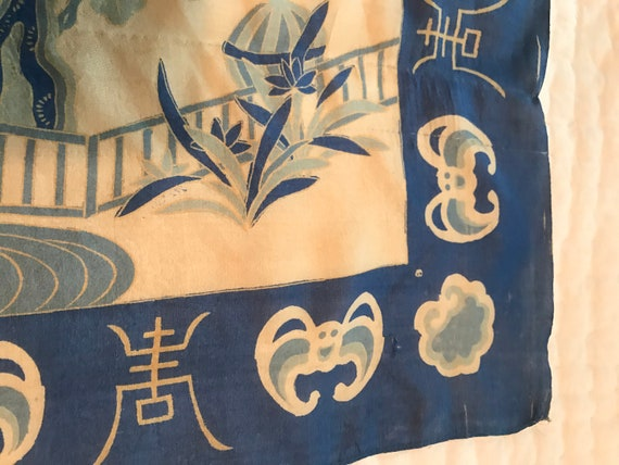 40's/50's Blue Silk Scarf - image 4