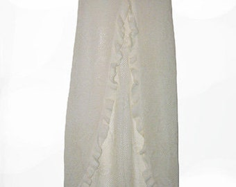 90's Vintage Siren Knitted Skirt with Open Slit Size S M