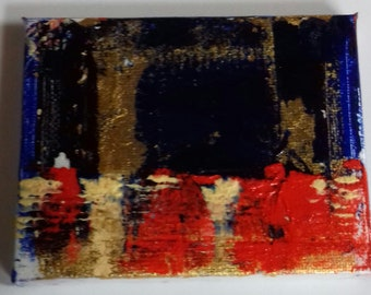 Oil and Gold leaf Miniature Original Paintings