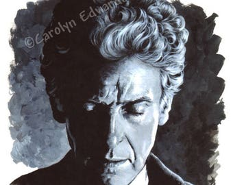 DOCTOR WHO - 12th Doctor. Signed, numbered Limited Edition A4 Art Print (29.7 x 21 cm)