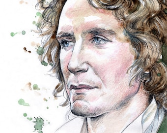 DOCTOR WHO - 8th Doctor ~ watercolour. A4 Art Print (29.7 x 21cm)