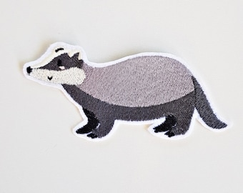 Application,ironing patch small badger
