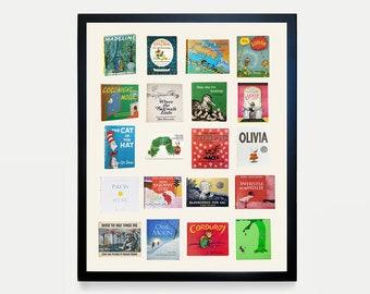 Children's Book Typology - Greatest Children's Books of all time - Dr Suess - Children Book Poster - Nursery Poster - Nursery Decor - Kids