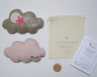 Ma Bouillotte Rigolote Nuage Argenté - Edgar Dragée - Bouillotte sèche graines de lin - Une étoile dans ma cabane