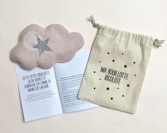 Ma Bouillotte dry powder pink cloud with flax seeds for original gift child
