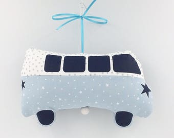 Mobile Musical Car Combi Jules Ciel - Blue Oil - Music Box - A Star in My Cabin