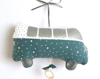 Mobile Musical Car Combi Jules Oil - Grey - Music Box - A star in my cabin