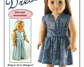 """778ae5ad8f Pixie Faire Forever 18 Inches Infinity Dress Doll Clothes Pattern Designed  to Fit 18"""" Dolls such as American Girl® - PDF"""