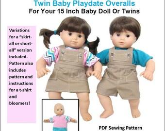 American Girl Bitty Baby Twin Girl Playdate Denim Skirt ONLY