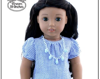 7a477fb855 Pixie Faire Forever 18 Inches Time Traveler Vintage Blouse Doll Clothes  Pattern for 18 inch American Girl Dolls - PDF