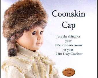 Pixie Faire Thimbles and Acorns Coonskin Cap Doll Clothes Pattern for 18  inch American Girl Dolls - PDF 4ecbf3e4bae